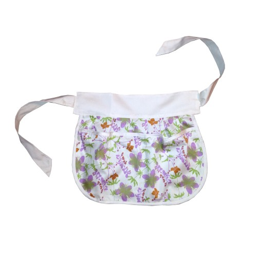 Aprons Girls' Organic Cotton Half Apron - Garden / Natural