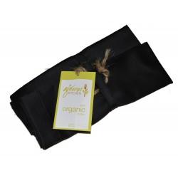 Organic Cotton Napkins (Set of 4) - Moonless Night Black