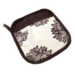 Organic Cotton Pot Holder - Evelyn / Chocolate Brown