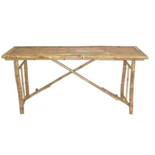 Long Folding Bamboo Table