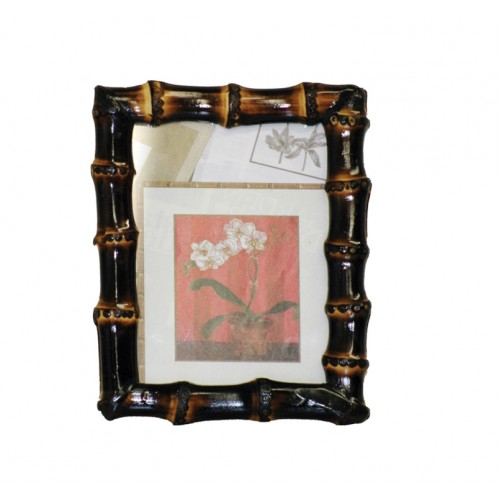Dark Bamboo Root Picture Frame