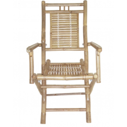 Bamboo folding chairs with arms set of 2