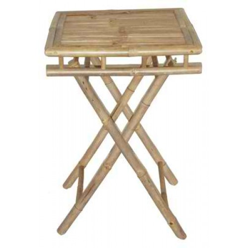 Small Square Folding Bamboo Table