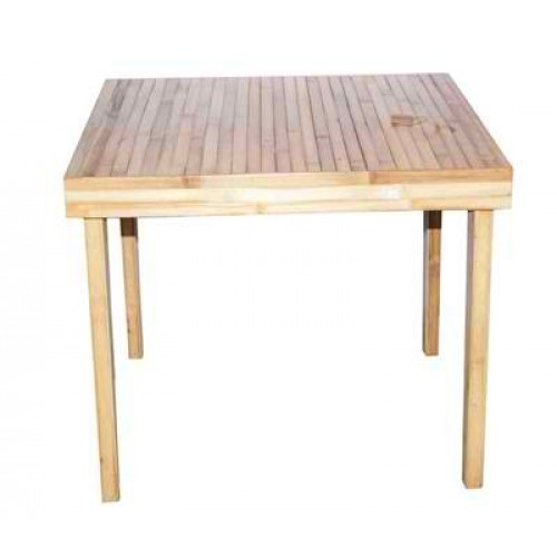 Baroque Square Bamboo Dining Table