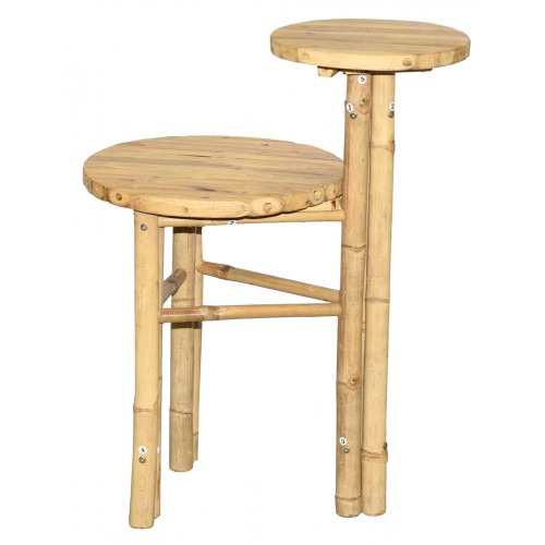 Multi Level Bamboo Side Table