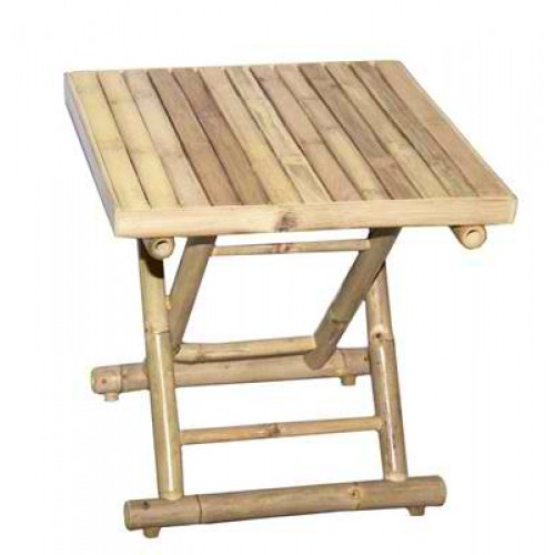 Square Bamboo Folding Table Low