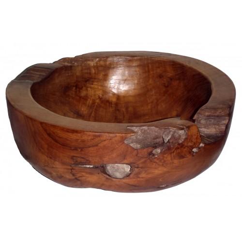 Large Round Teak Bowl