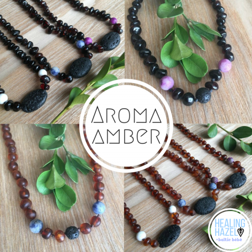 Aroma Amber Baby/Children Necklace – Raw Cognac