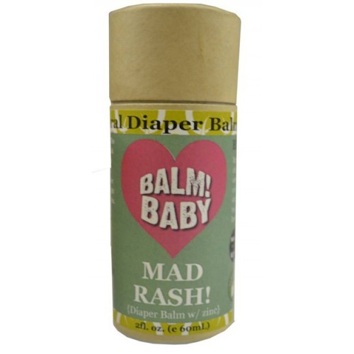 Balm! Baby Mad Rash Stick Diaper Balm W/ Zinc - In Eco Stick 2oz.