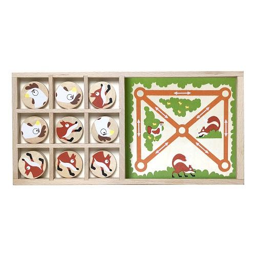 Begin Again Toys Fox Vs Chickens - Tic Tac Toe & Farm Chase Game Set