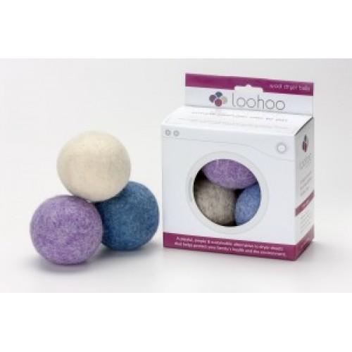 LooHoo Wool Dryer Balls 3pk in RETAIL packaging