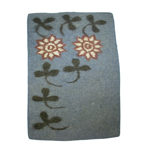 Felt Doormat with Clover Design