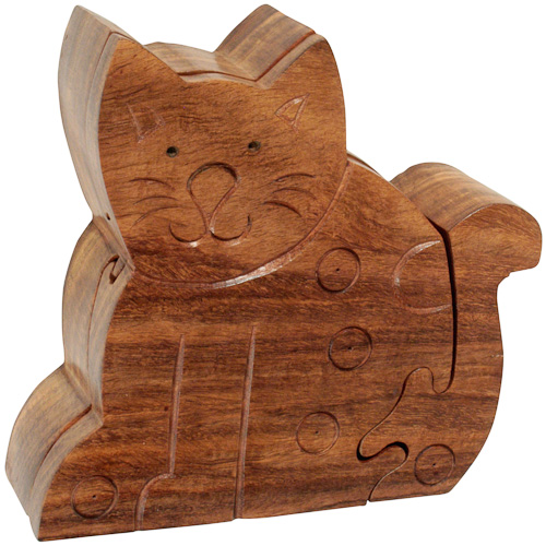 Sitting Cat Puzzle Box