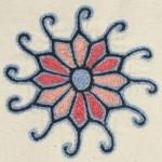 Black Trim Embroidered Kitchen Set