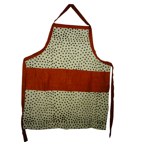 Dotted Mud Cloth Apron
