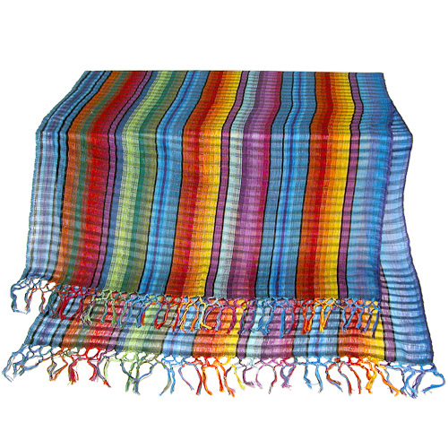 Rainbow Cotton Shawl