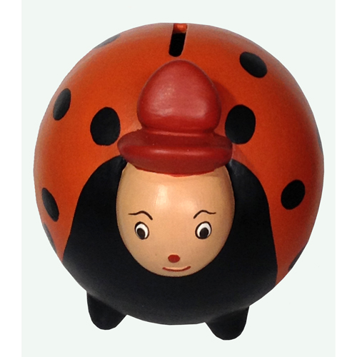 Red Ceramic Ladybug Bank from Peru