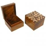 Sheesham Square Wooden Box