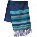 Silk Scarf w/ Stripes