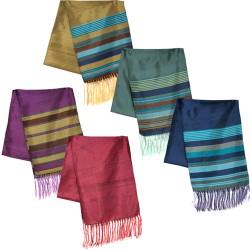 Silk Scarf with Stripes
